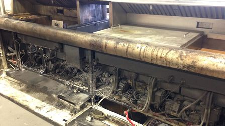 An electrical fault in the high efficiency frying range caused a major fire in the Fishers of Hunsta