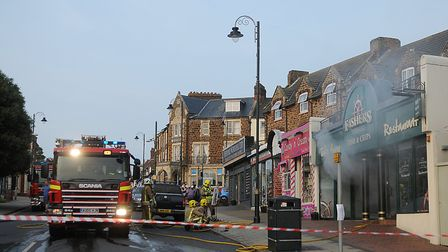 Firefighters were called to the scene of a fire in Fishers in Hunstanton. Picture: Chris Bishop