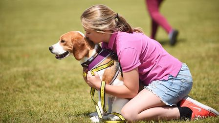Scenes from the Snetterton Dogs Trust fun day. Pictured is Eve Arbuthnot (11) and her dog Philly. Pi