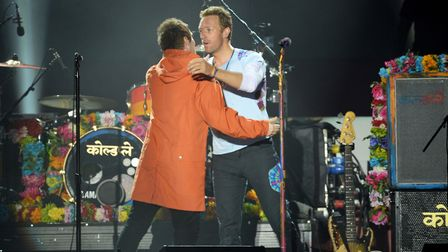 Liam hugging Chris Martin was not a sight we would have ever expected in normal circumstances. Pictu