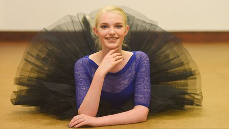 Ellie Nevard (16), has been awarded a full scholarship to Laine's Theatre Arts College in Epsom. Pic