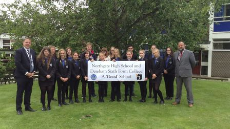 Northgate High School students are celebrating their 'good' rating in the latest Ofsted report. Pict
