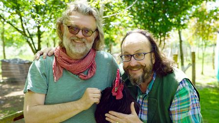 The Hairy Bikers are supporting a village shop campaign. Picture shows Si King and Dave Myers. Pictu