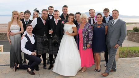 Johnny Mac, the Hippodrome star marries near his home city of Glasgow surrounded by fellow cast memb