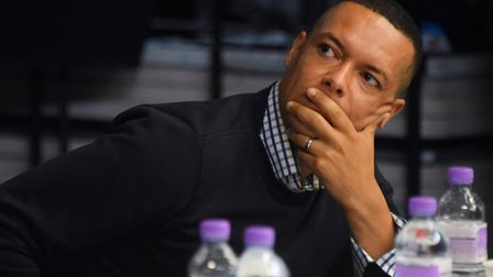 Clive Lewis, Labour, at the Norwich South election hustings, held at the City of Norwich School. Pic
