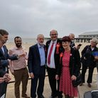 Labour leader Jeremy Corbyn visits the seafront at Lowestoft as part of this election campaign. Pic: