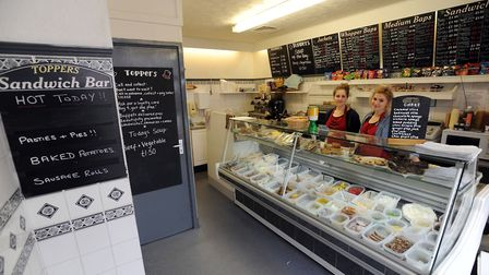 Toppers Sandwich Shop in Bury St Edmunds. Photo: Phil Morley