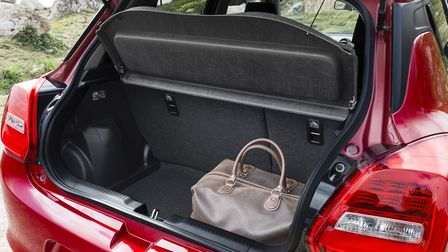 Suzuki Swift's larger boot offers a respectable 265 litres of space. Picture: Suzuki
