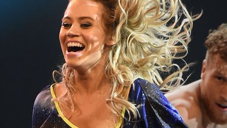 Kimberly Wyatt during a live show of Sky 1's Got To Dance TV programme, at Earl's Court in London in