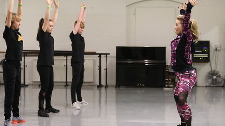 Kimberly Wyatt teaching a young dance class at Pineapple Studios in London earlier this year. Photo