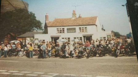 The Railway Tavern in Dereham in the 1980s was popular with bikers