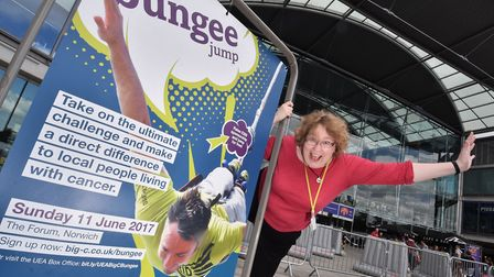 Maria Connor who is doing a bungee jump for the Big C charity. Picture : ANTONY KELLY