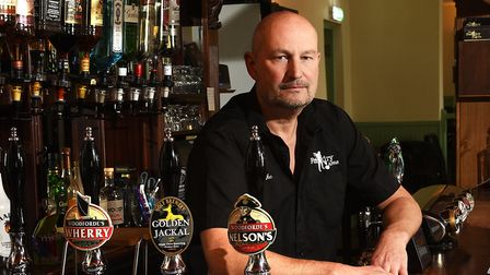 Jason Bumphrey, landlord of the Foundry Arms, Southrepps. Picture: ANTONY KELLY