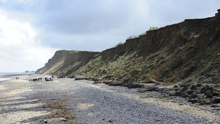 The North Norfolk coast at West Runton. Picture: MARK BULLIMORE