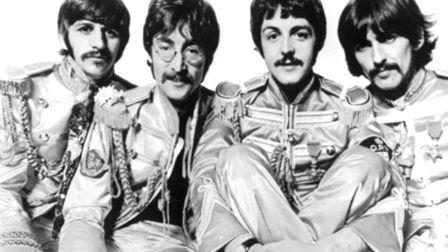 The Beatles, pictured in 1967 around the time of the Sgt Pepper album: Ringo Starr,John Lennon, Paul