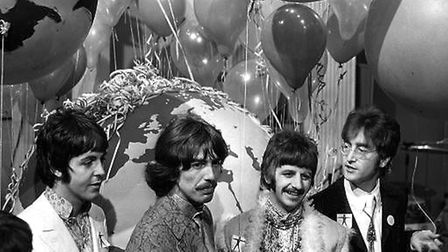 The Beatles (L-R) Paul McCartney, George Harrison, Ringo Starr and John Lennon pictured during the s