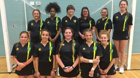 The girls team from Northgate High School reached the national finals. Picture: Northgate High Schoo