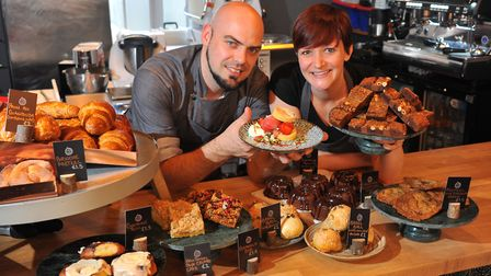 Jaime and Stephanie Garbutt who have opened Figbar in Norwich offering desserts only menu. PHOTO BY