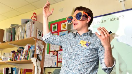 Local author Benjamin Scott holds workshops with youngsters from Brundall Primary School.Picture: N