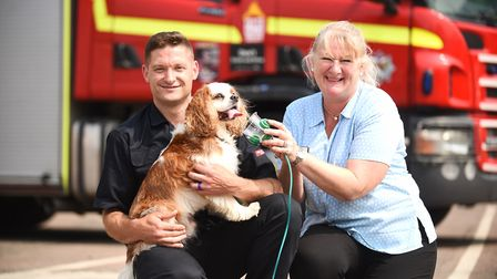 Mill House Veterinary Surgrey and Hospital launched a campaign to supply Kings Lynn Fire Station wi