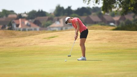 Norfolk's Amelia Williamson claimed her second singles win of the week at Hunstanton Golf Club yeste