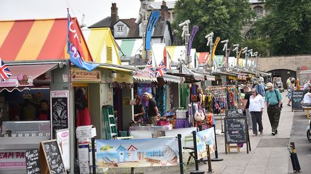 Norwich Market pop up stalls. The back of the market.Picture: ANTONY KELLY