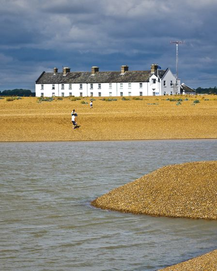 Shingle Street. This small, isolated hamlet sits opposite the tip of Orford Ness.With its Martello