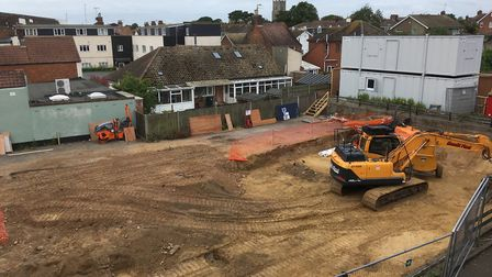 Work has halted on the site of the WIlliam Adams in Gorleston. Picture: David Hannant
