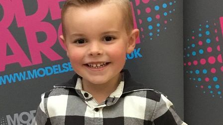 Olly Wright, age 4. Picture: courtesy of Market Gates Shopping Centre