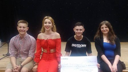 The winners of Loddon's Got Talent, pictured from left Archie Buck, Amy Morris, Connor Bailey and Ta