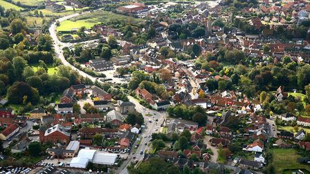 Hundred of homes are planned for Halesworth. Photo: MIKE PAGE.
