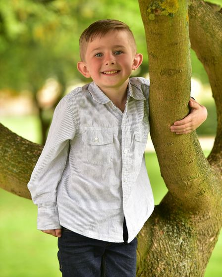 Finley Hooper,6, nearly drowned in a local swimming pool. His family would like to deliver a water s