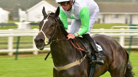 Theydon Girls wins the 3.50pm at Great Yarmouth with jockey Marc Monaghan. Picture: Nick Butcher