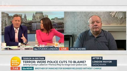 Piers Morgan discusses the ability of the police to respond to a terrorist attack in Norwich with Pe