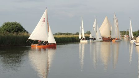 Action from the Three Rivers Race which took place at Horning at the weekend. Picture: Holly Hancock