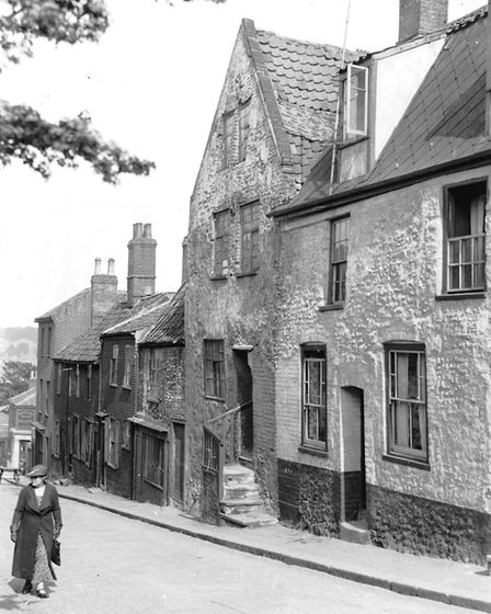 Looking down Thorn Lane from Ber Street during the 1920's. Photo: Archant Library