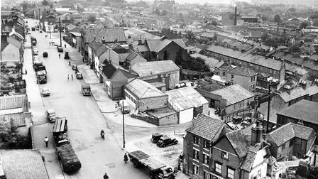 Ber Street showing the streets and buildings that were cleared in the 60s redevelopment of the area.