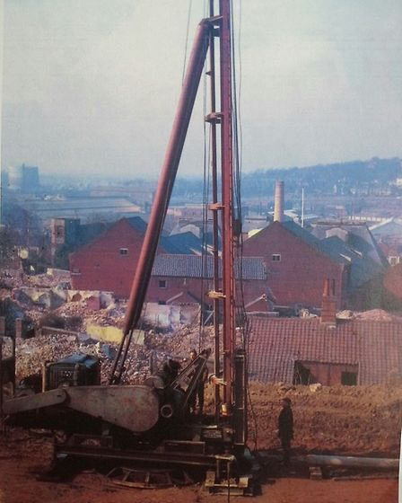 """The work in progress at the demolished """"village on the hill"""" between Ber Street and King Street in N"""