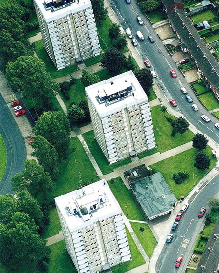 Compass, Burleigh and Ashbourne Towers on the Heartsease Estate. Photo: Archant