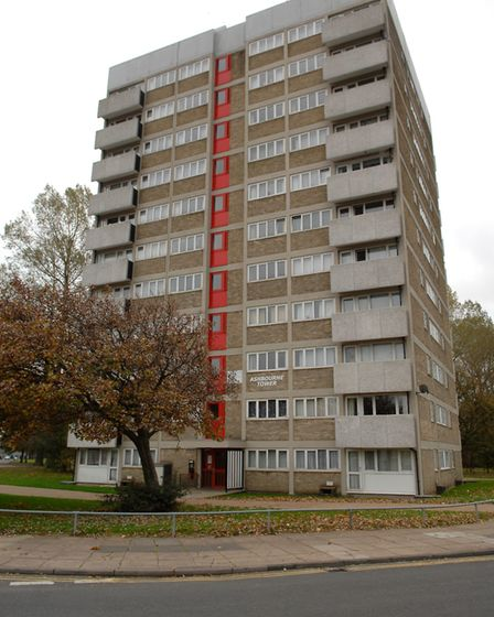 General view of the tower blocks on the Heartsease Estate. Photo: Colin Finch