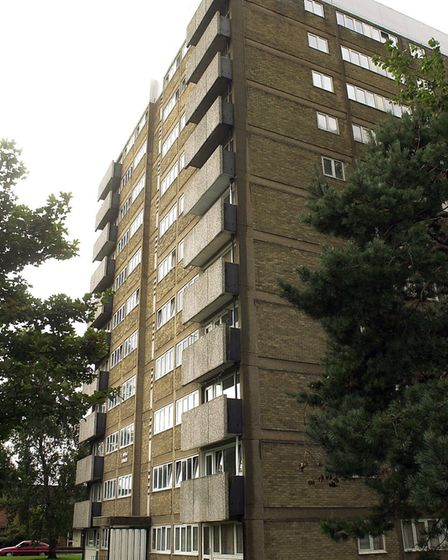 Compass Tower, one of three blocks of flats in Munnings Road, Heartsease. Photo: Bill Smith