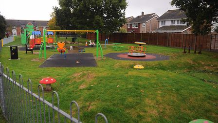 The play area at King's Head Meadow at Wymondham, which is close to nearby houses. Picture: DENISE B