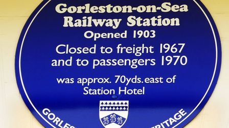 The blue plaque at Station House, Gorleston. Picture: Paul Godfrey