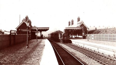 YARMOUTH BOUND...a steam-hauled passenger train at Gorleston Station 80 years ago. Pictures: PETER