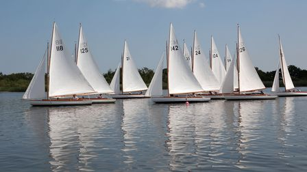 Action from Norfolk Punt Club's White Boat Open. Picture: Robin Myerscough