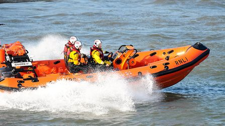 The Great Yarmouth and Gorleston Lifeboat was called out. Seahorse IV in action. Picture: James Bas