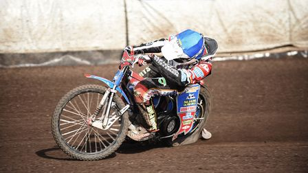 Simon Lambert is familiar with the track at theSAdrian Flux Arena. Picture: Ian Burt