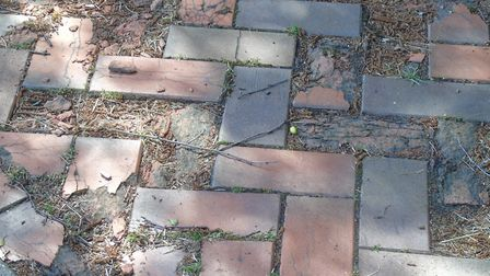 Brick paving in the Steeple Tower area of Hethersett. picture: Peter Steward
