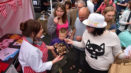 The Battle of the Bangers commeces at last year's Norwich Food and Drink Festival. Picture: ANTONY K
