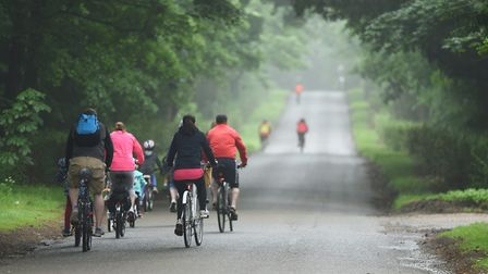 Cycle Together at Sandringham. Picture: Ian Burt